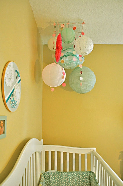 DIY Baby Room Decorations  DIY Paper Decor Chandelier for Baby Room