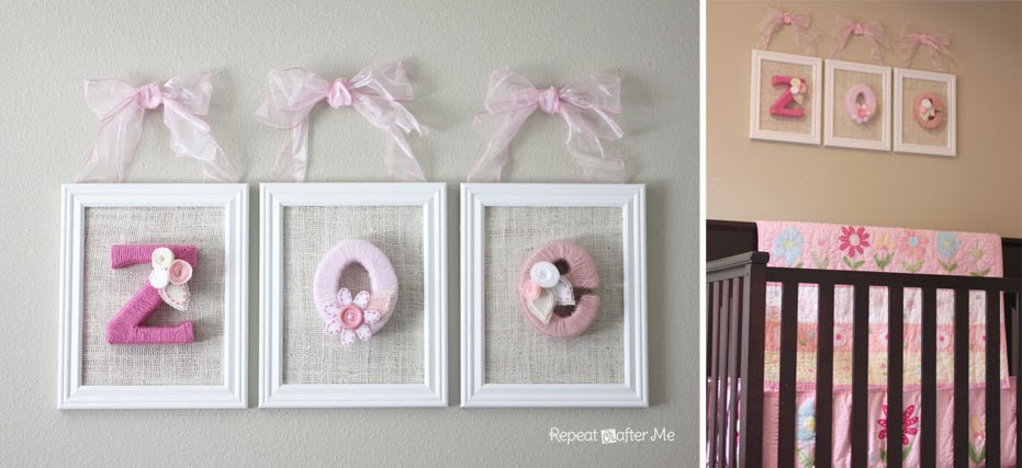 DIY Baby Room Decorations  Baby Girl Nursery DIY decorating ideas Repeat Crafter Me