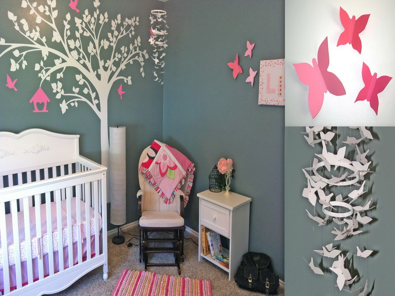 DIY Baby Room Decorations  Bedroom Diy Nursery Ideas With Gray Wall How to Decorate