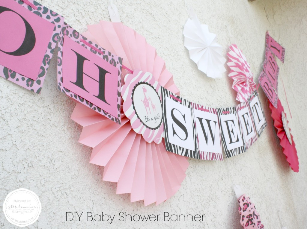 DIY Baby Shower Banners  DIY Baby Shower Candy Buffet Project Nursery