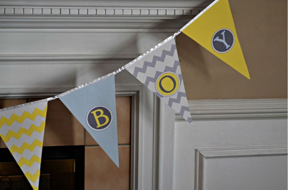DIY Baby Shower Banners  12 hot baby shower trends