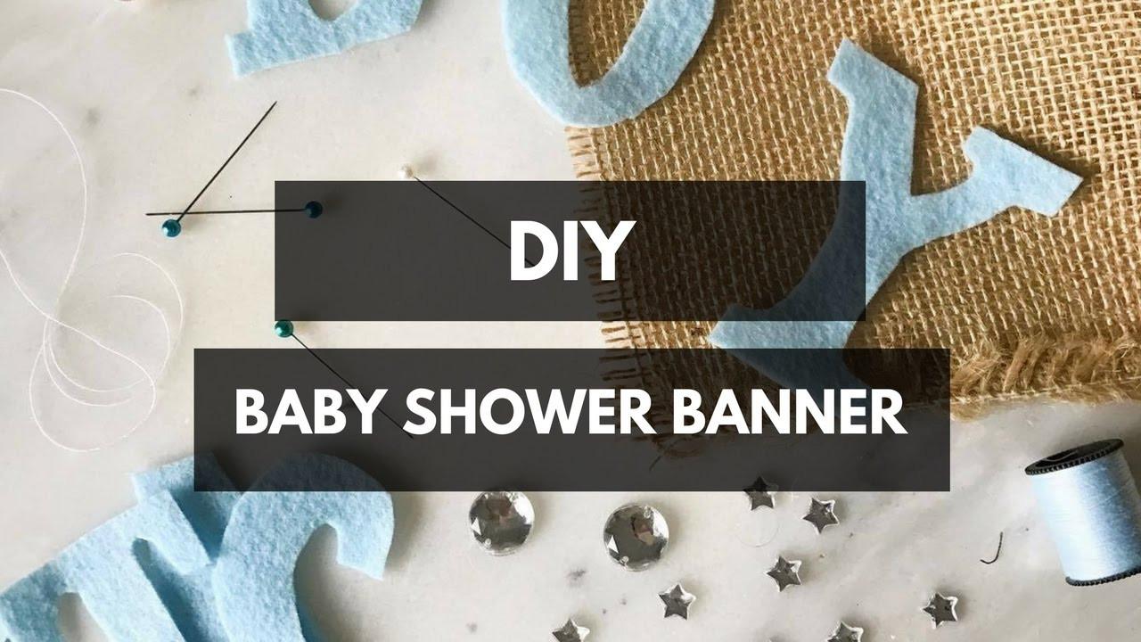 DIY Baby Shower Banners  DIY Baby Shower Banner