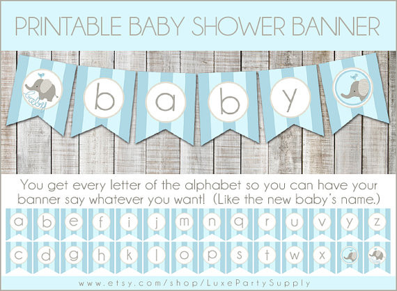 DIY Baby Shower Banners  DIY Baby Shower Banners s and for