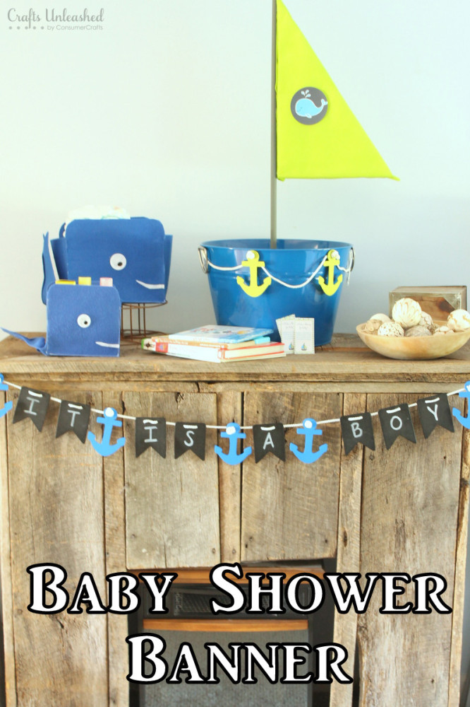 DIY Baby Shower Banners  DIY Baby Shower Banner Nautical Themed Crafts Unleashed