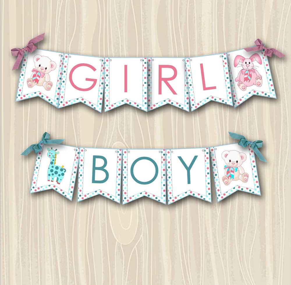 DIY Baby Shower Banners  Baby Shower Banner DIY Custom Party Printable Boy or Girl