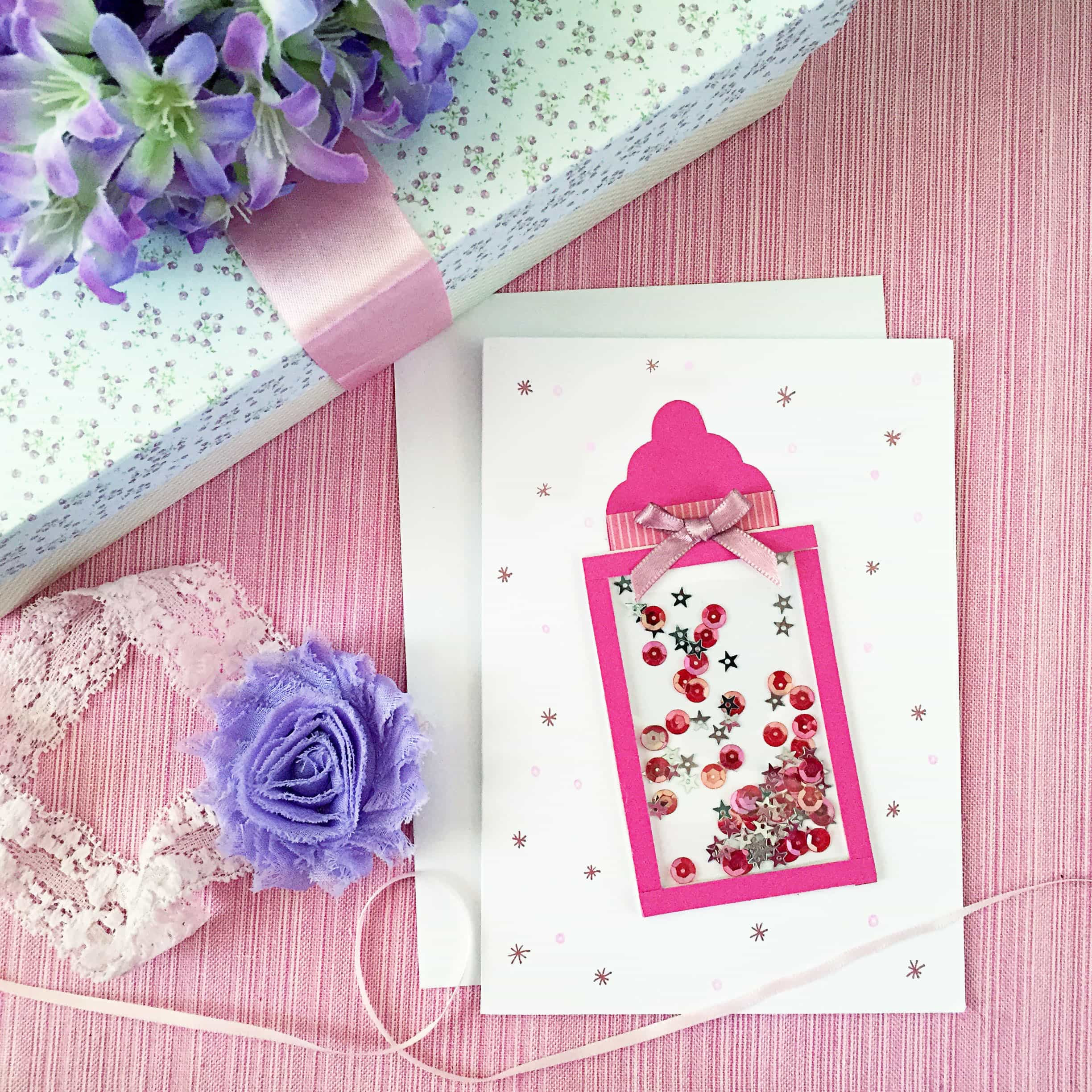 Best ideas about DIY Baby Shower Cards . Save or Pin DIY Baby Shower Shaker Card Now.