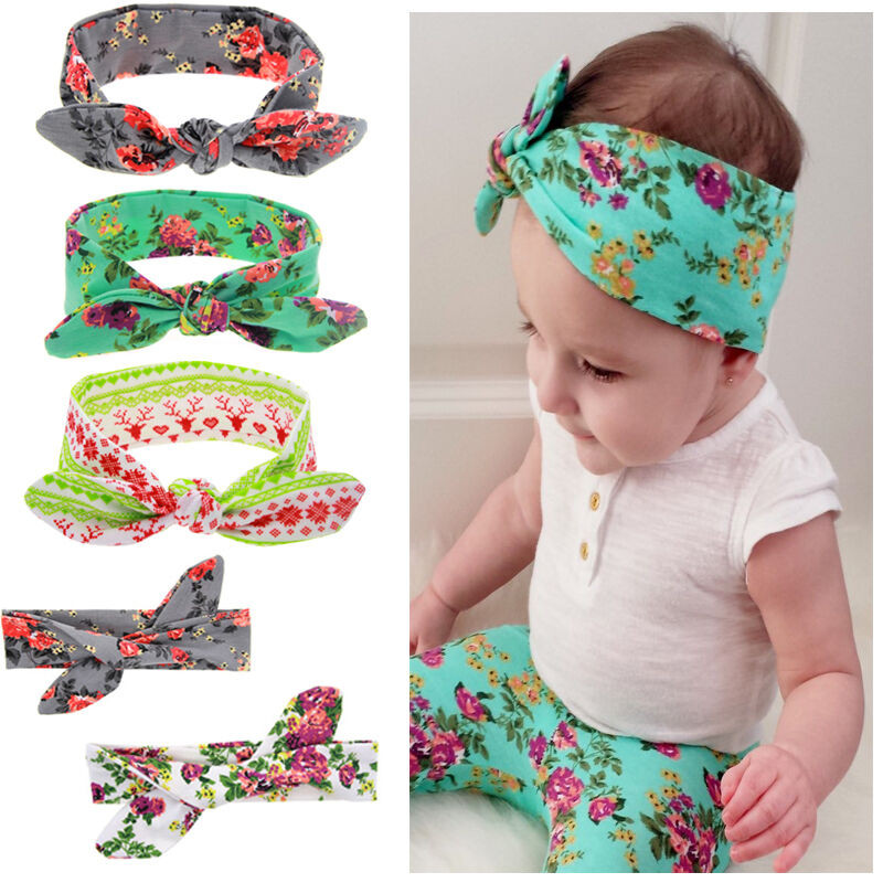 DIY Baby Turban Headband  Cute Baby Kids Girls Rabbit Ears Bow Turban Knot Headband