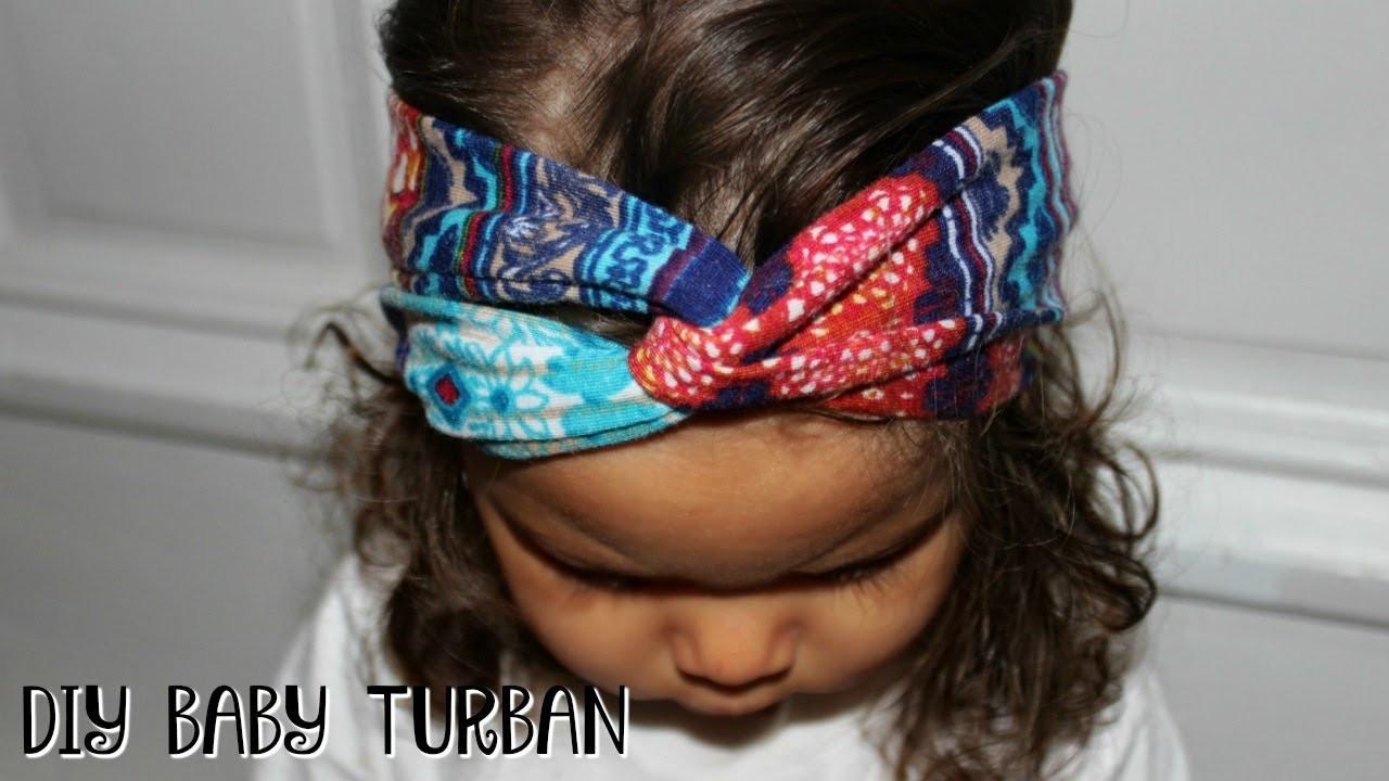DIY Baby Turban Headband  EASY DIY BABY TURBAN HEADBAND