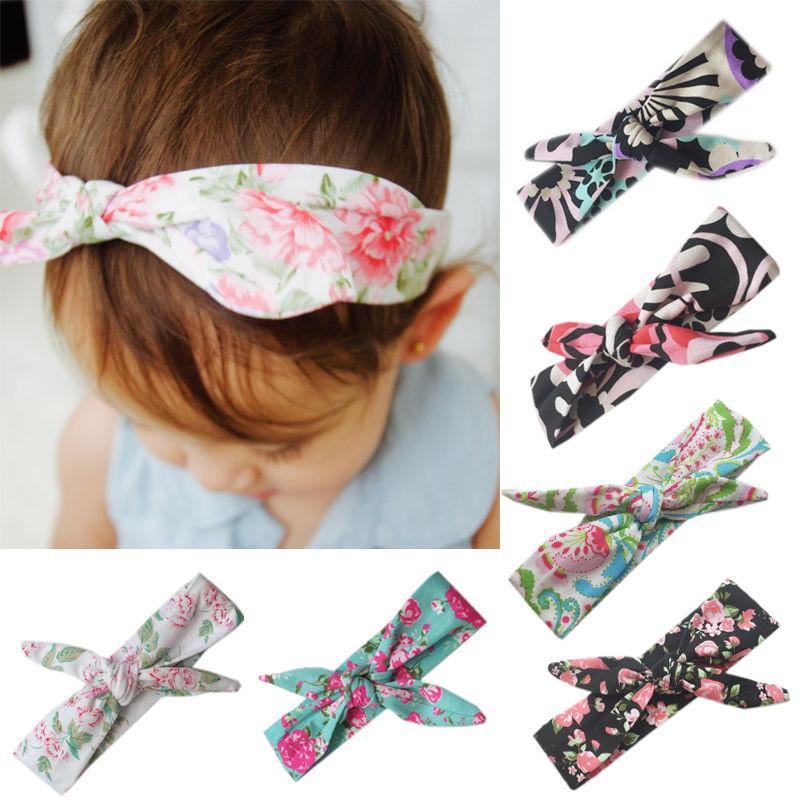 DIY Baby Turban Headband  Baby Girls Bow Headband Rabbit Ear Hair Band Turban Knot