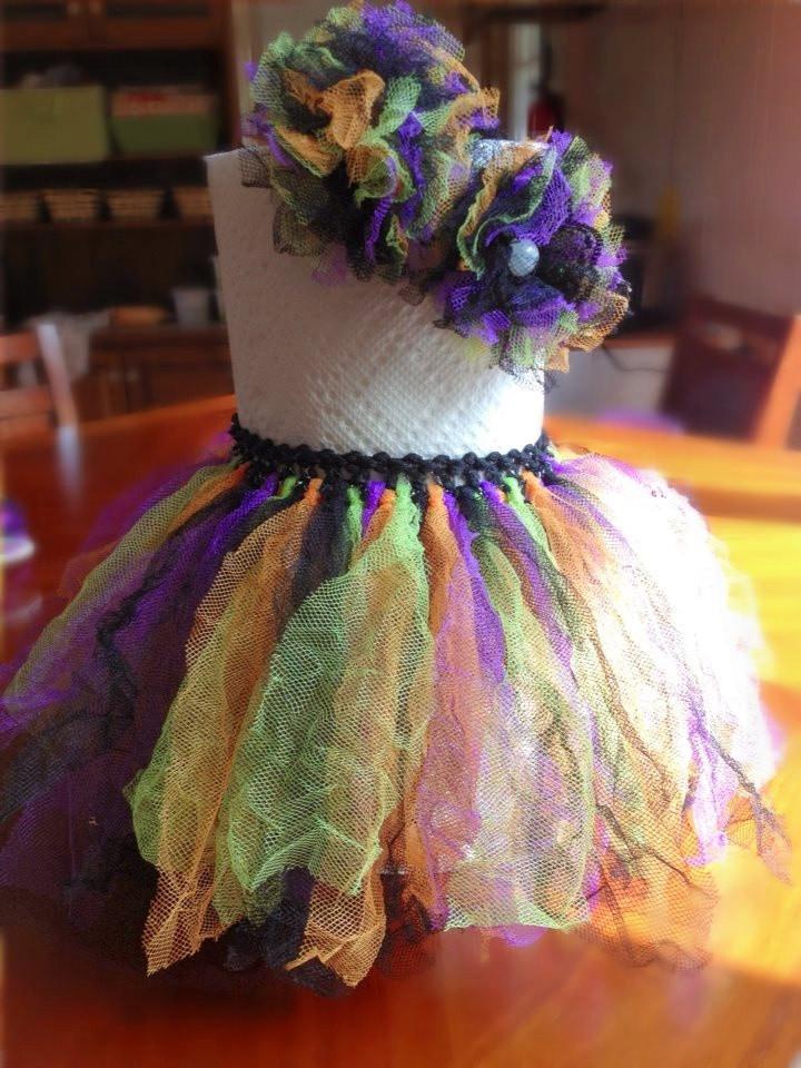 DIY Baby Tutus  Fall Halloween Infant Tutu Set DIY headband