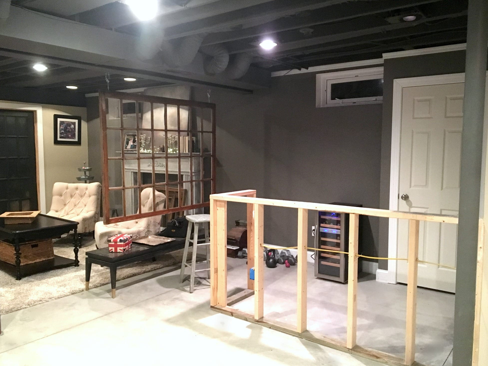 Best ideas about Diy Basement Ideas . Save or Pin DIY Decor Industrial Basement Remodel Now.