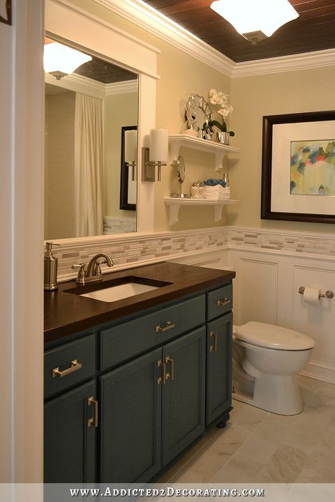 Best ideas about Diy Bathroom Remodel . Save or Pin DIY Bathroom Remodel Before & After Now.
