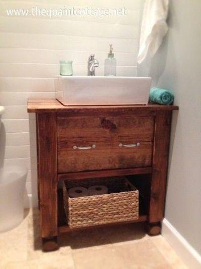 Best ideas about DIY Bathroom Vanity Plans . Save or Pin DIY bathroom vanity bath ideas Juxtapost Now.