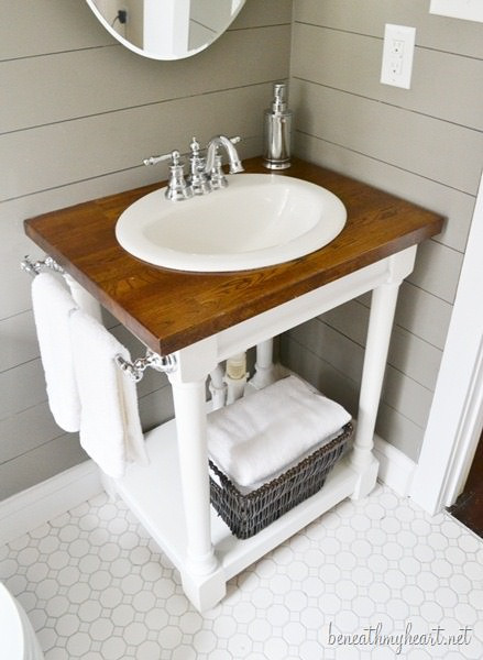 Best ideas about DIY Bathroom Vanity Plans . Save or Pin Creative DIY Bathroom Vanity Projects • The Bud Decorator Now.