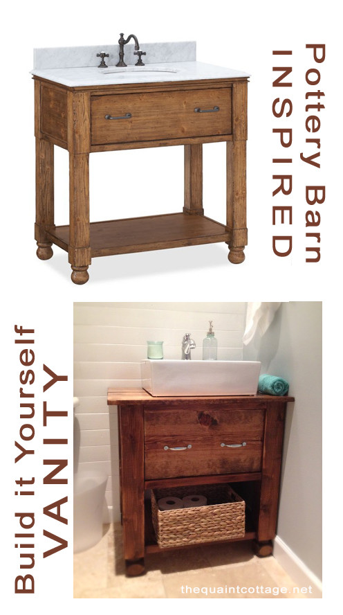 Best ideas about DIY Bathroom Vanity Plans . Save or Pin DIY Bathroom Vanity How To Now.
