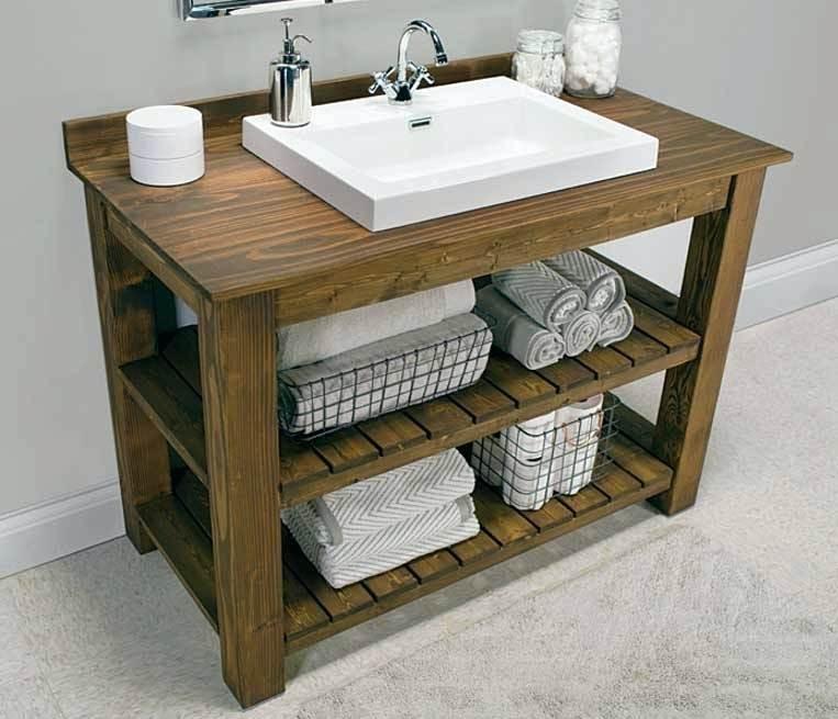 Best ideas about DIY Bathroom Vanity Plans . Save or Pin Diy Bathroom Vanity Best Rustic Bathroom Vanity Plans With Now.