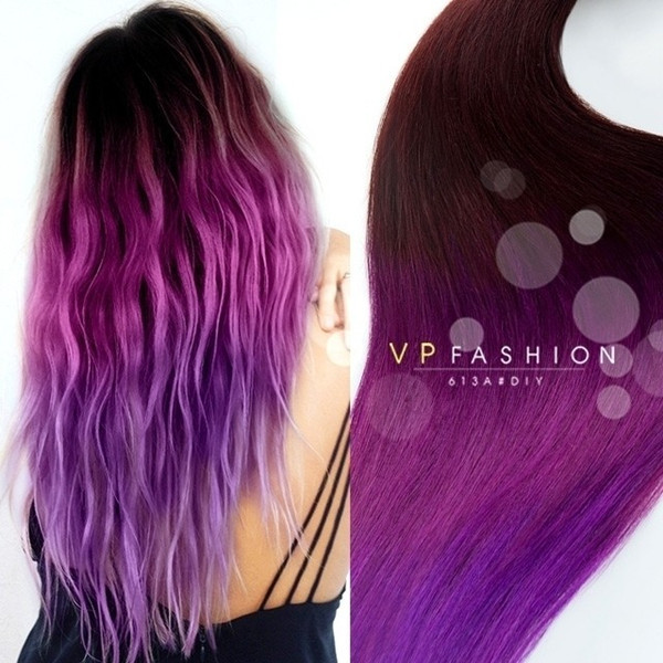 Best ideas about DIY Blue Hair Dye . Save or Pin Purple ombre for dark hair DIY 2015 summer your personal Now.