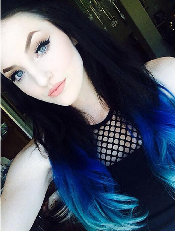 Best ideas about DIY Blue Hair Dye . Save or Pin Black To Blue Ombre Hair Color Archives Vpfashion Vpfashion Now.