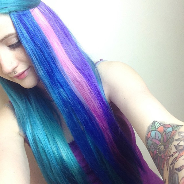 Best ideas about DIY Blue Hair Dye . Save or Pin How to Dip Dye Your Hair at Home with Three Different Now.