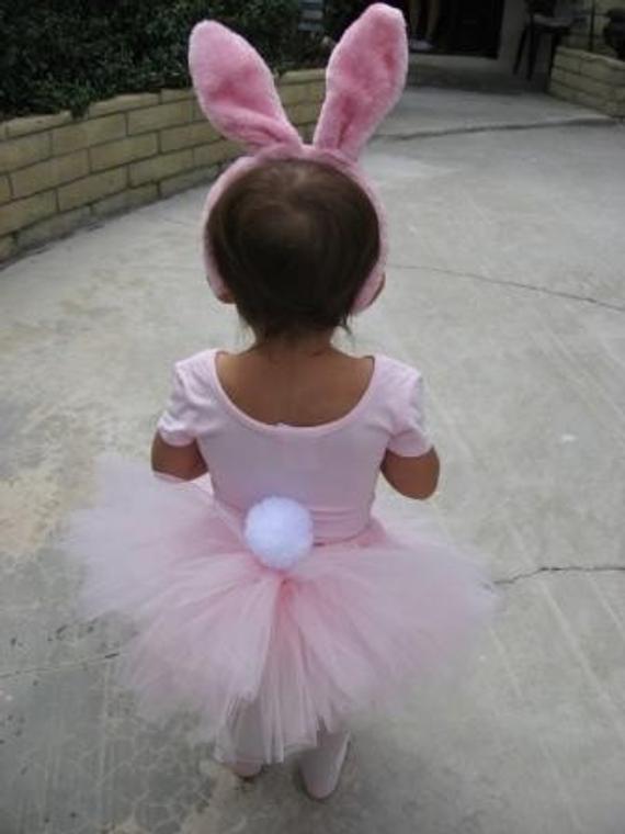 DIY Bunny Costume Toddler  Pink Bunny Tutu Halloween Costume
