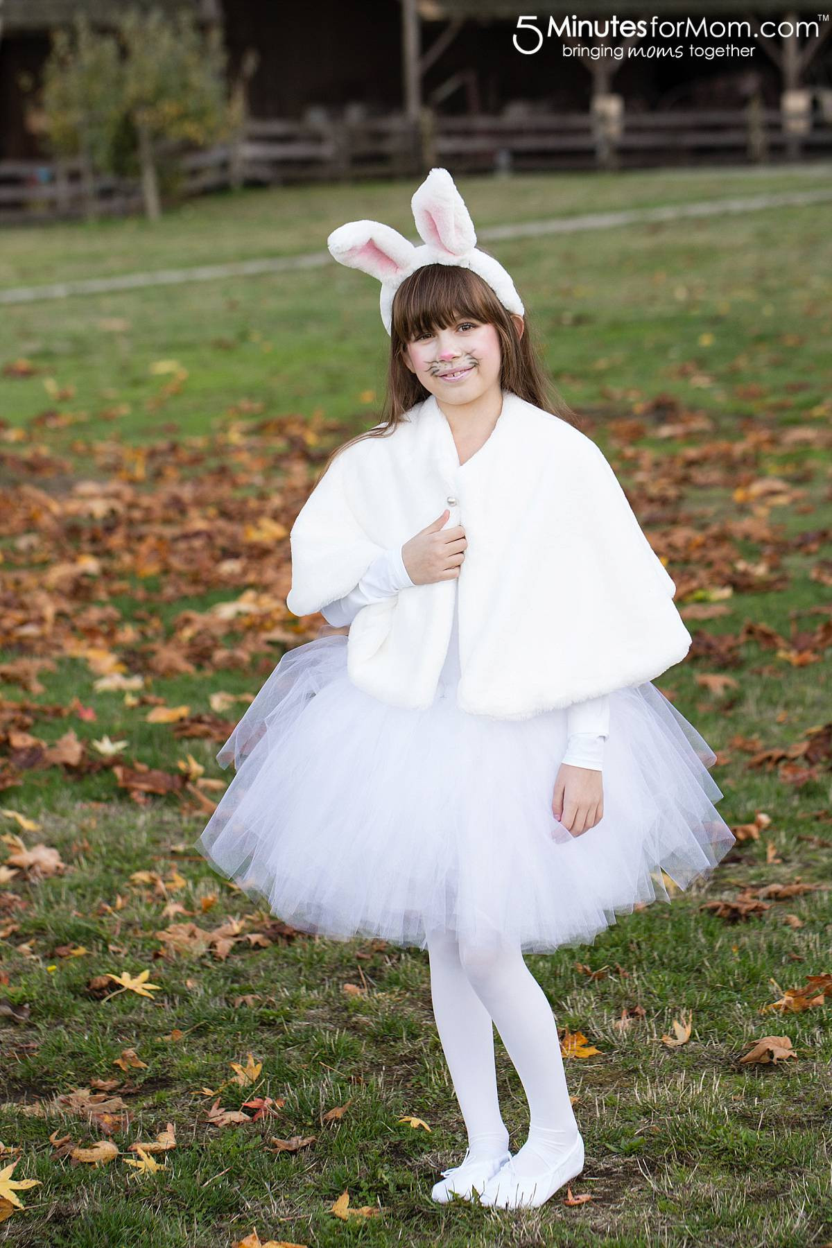 DIY Bunny Costume Toddler  DIY Girls Halloween Costumes 5 Minutes for Mom