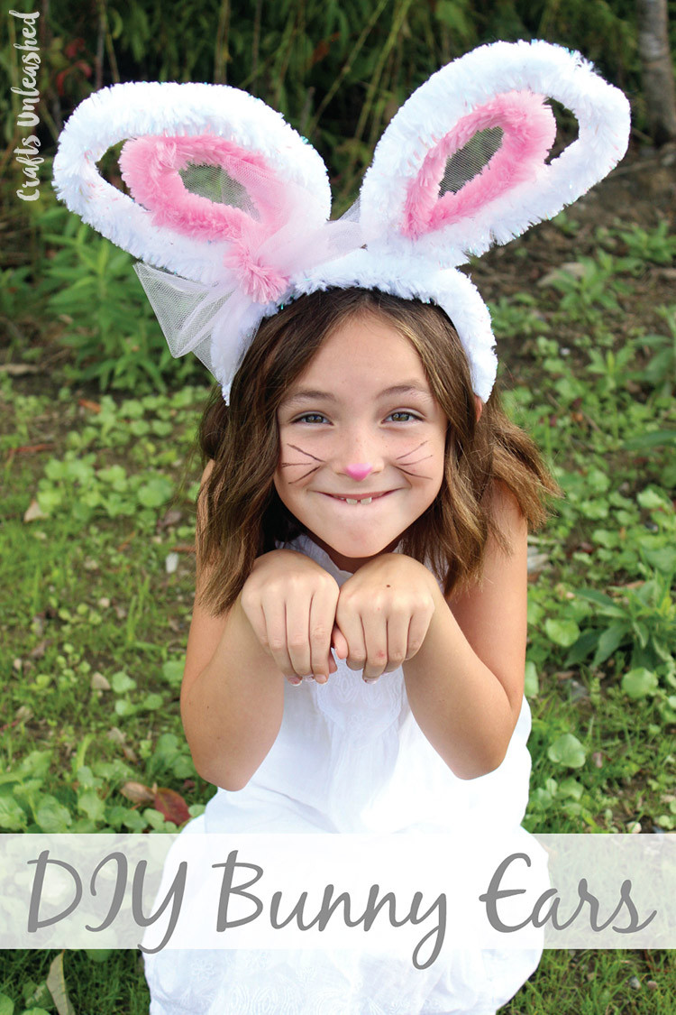 DIY Bunny Costume Toddler  DIY Bunny Ears Quick and Easy Consumer Crafts