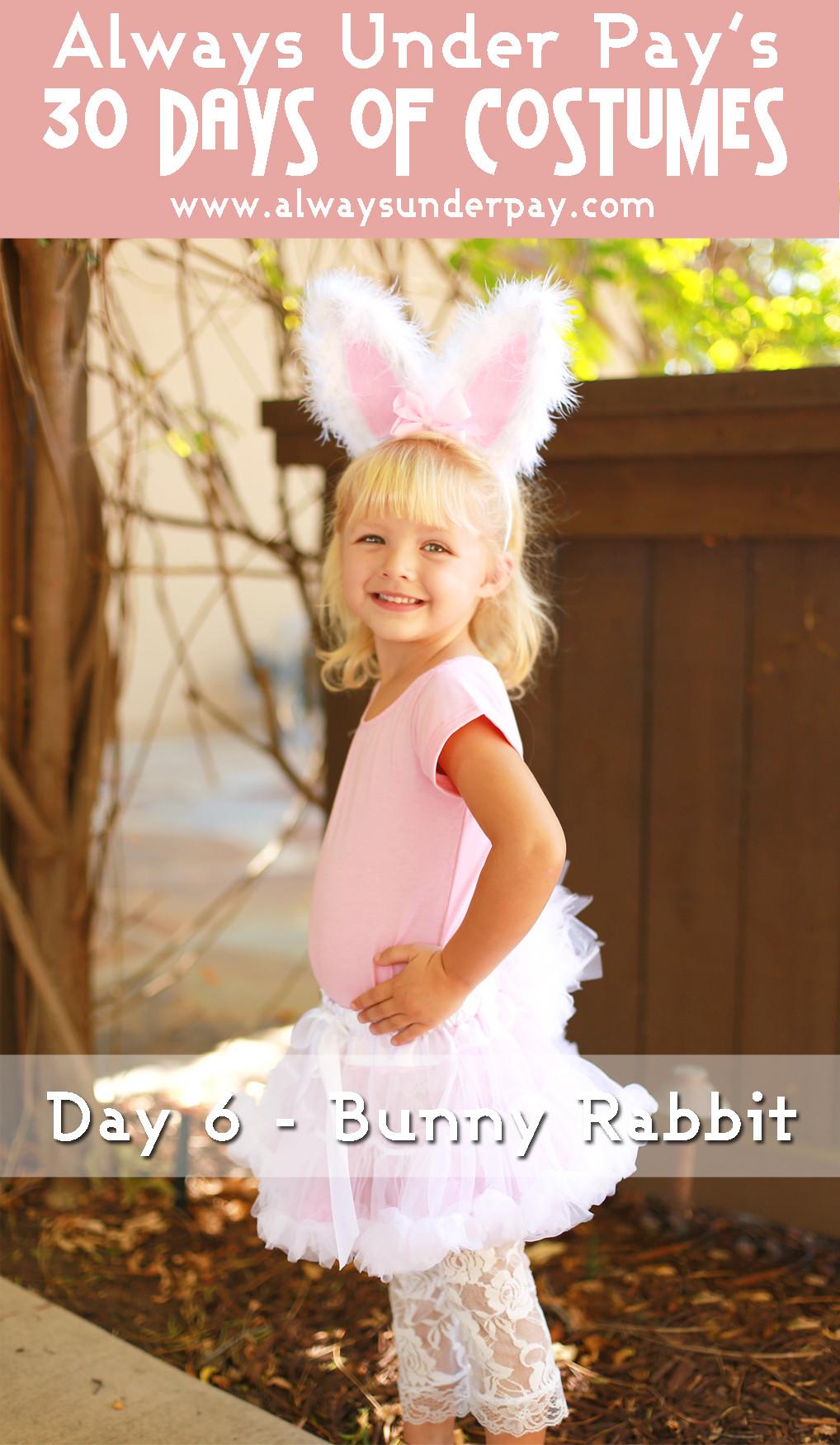 DIY Bunny Costume Toddler  Day 6 – Bunny Rabbit DIY Halloween Costume Tutorial Cheap