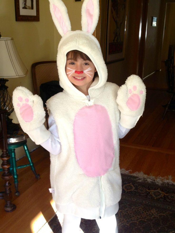 DIY Bunny Costume Toddler  DIY kids Bunny costume Thrift store fleece zippered