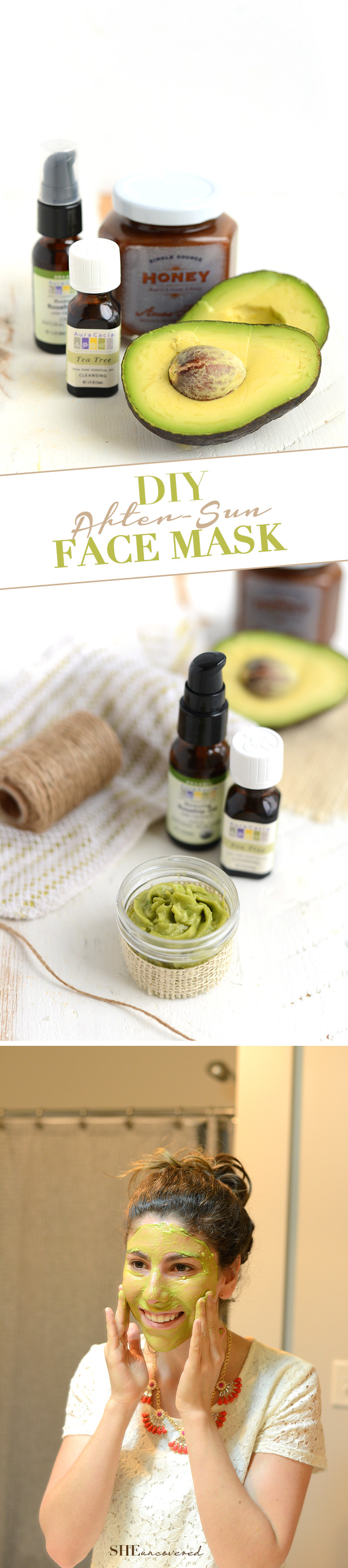 Best ideas about DIY Calming Face Mask . Save or Pin DIY After Sun Face Mask • She Uncovered Now.