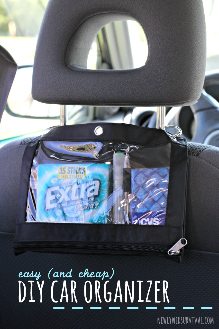DIY Car Organizer  Easy and Cheap DIY Car Organizer Newlywed Survival