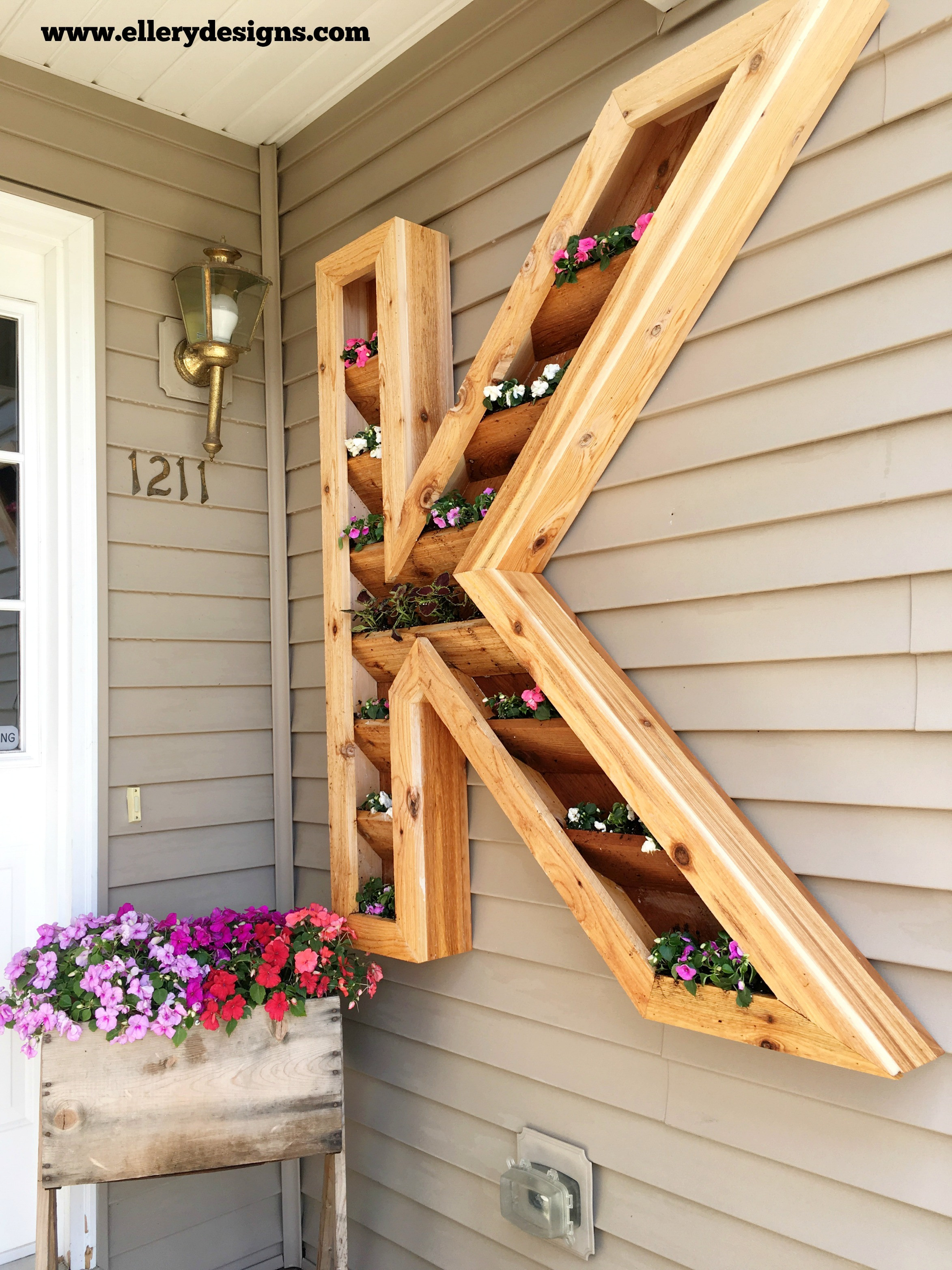 Best ideas about DIY Cedar Planter Box . Save or Pin DIY Cedar Monogram Planter Box – Ellery Designs Now.