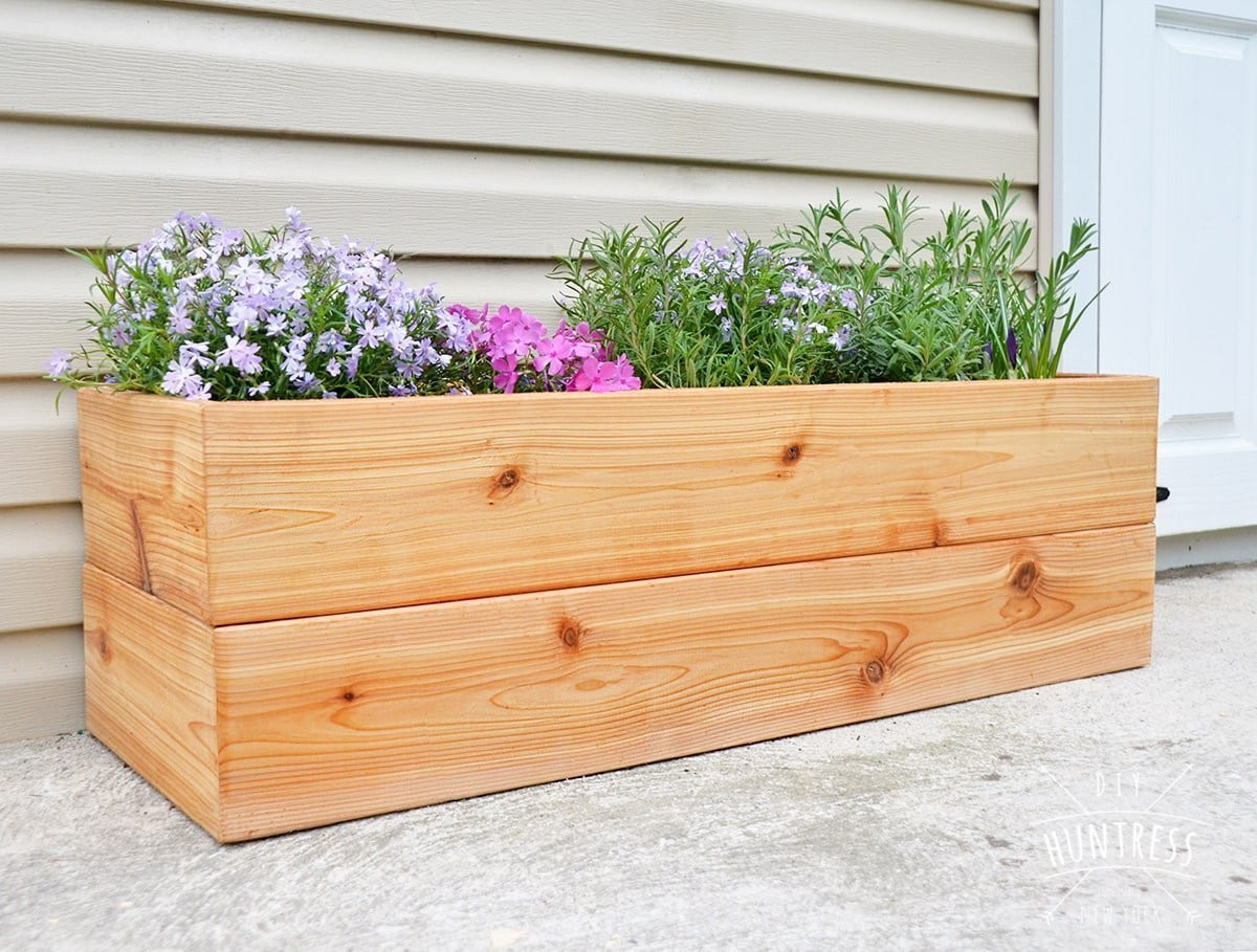Best ideas about DIY Cedar Planter Box . Save or Pin DIY Modern Cedar Planter DIY Huntress Now.