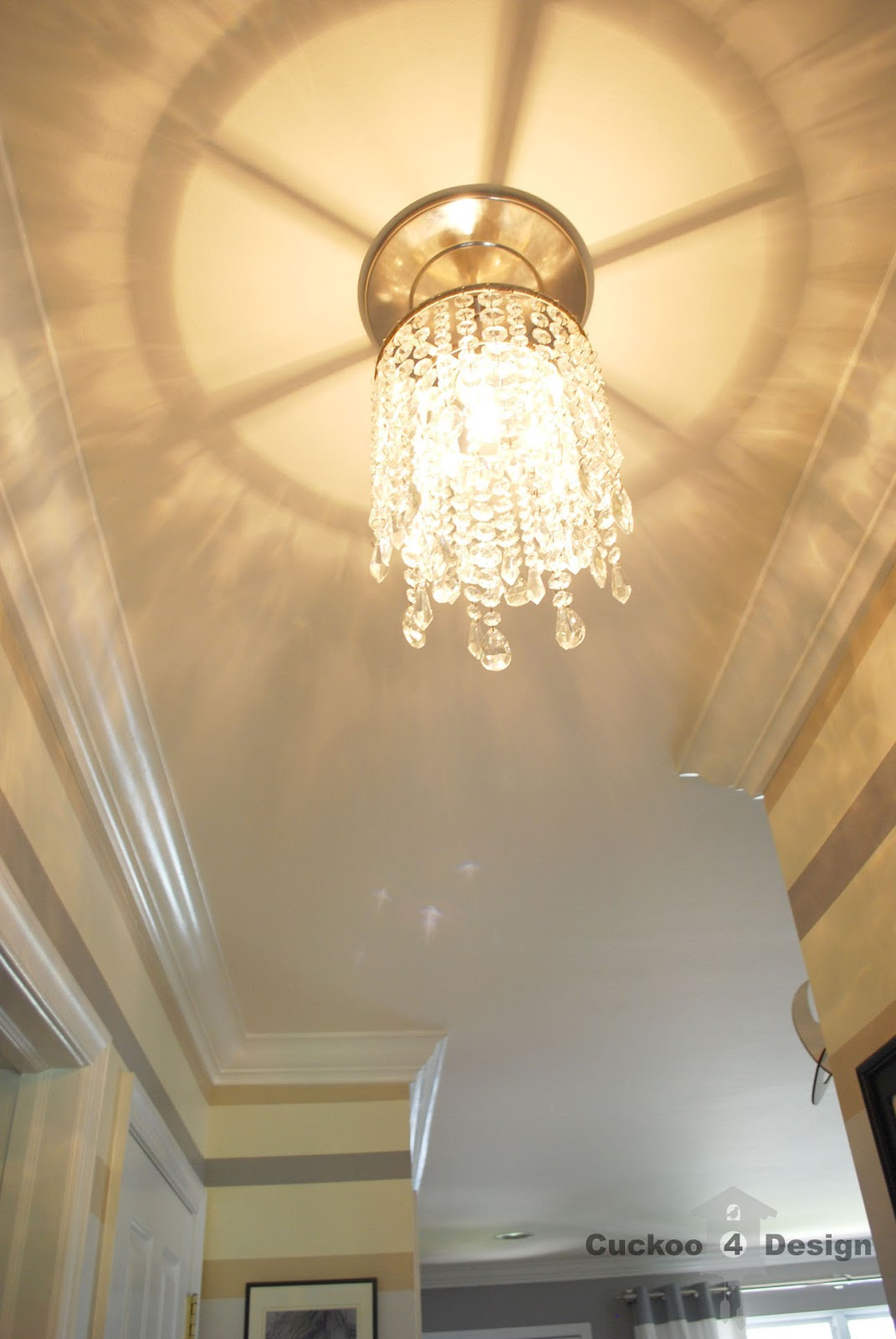 DIY Ceiling Light Cover  DIY crystal vanity shades Cuckoo4Design