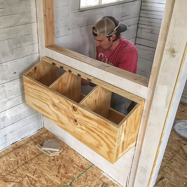 Best ideas about DIY Chicken Nesting Boxes . Save or Pin Chicken Coop Progress Ashley Hackshaw Lil Blue Boo Now.