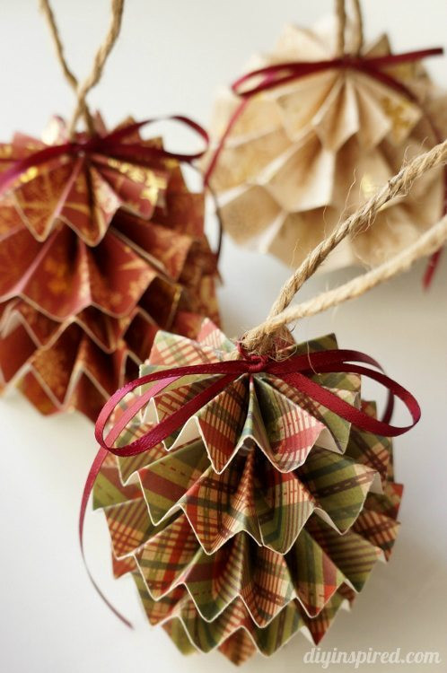 Best ideas about DIY Christmas Balls . Save or Pin 45 Wonderful Paper And Cardboard DIY Christmas Decorations Now.