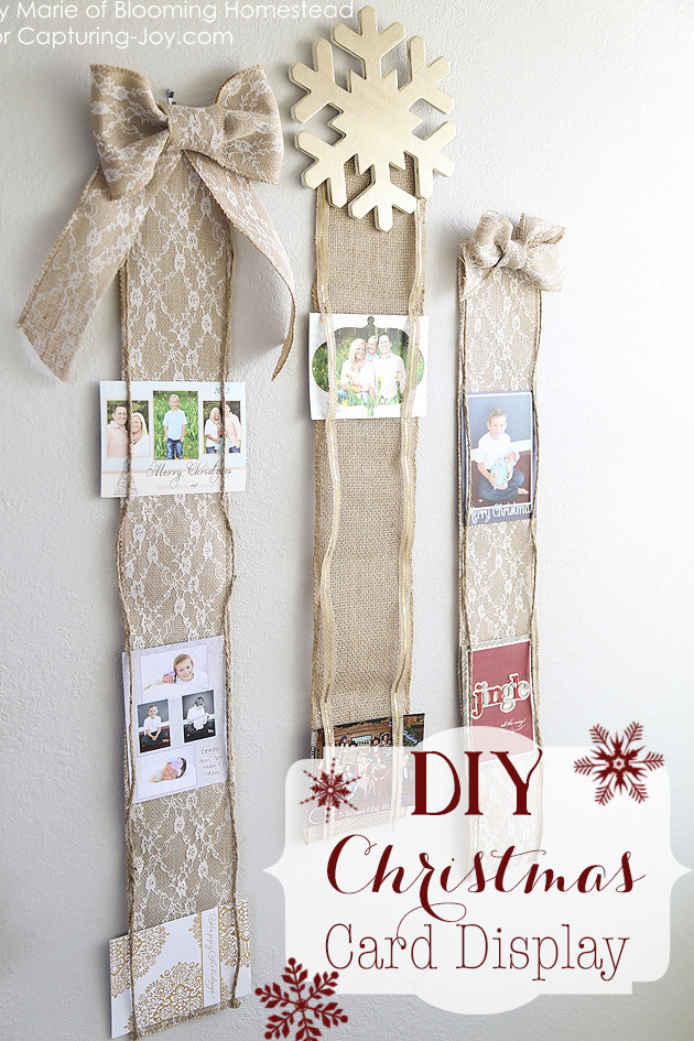 DIY Christmas Card Holders  15 Creative Ways to Display Holiday Cards