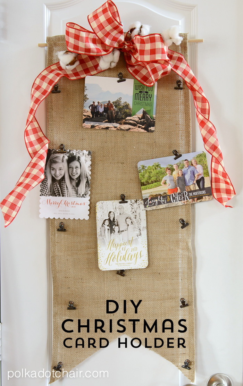 DIY Christmas Card Holders  DIY Christmas Card Holder on the Polka Dot Chair Blog