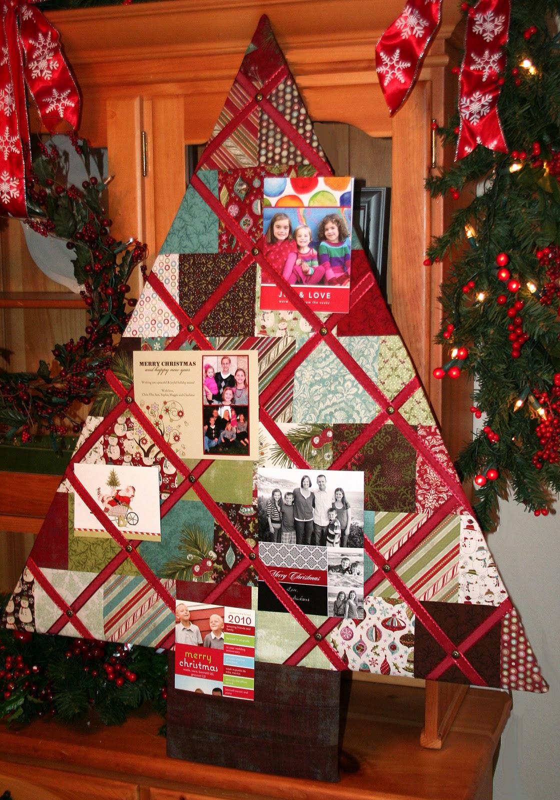 DIY Christmas Card Holders  Christmas Tree Card Holder Moda Bake Shop