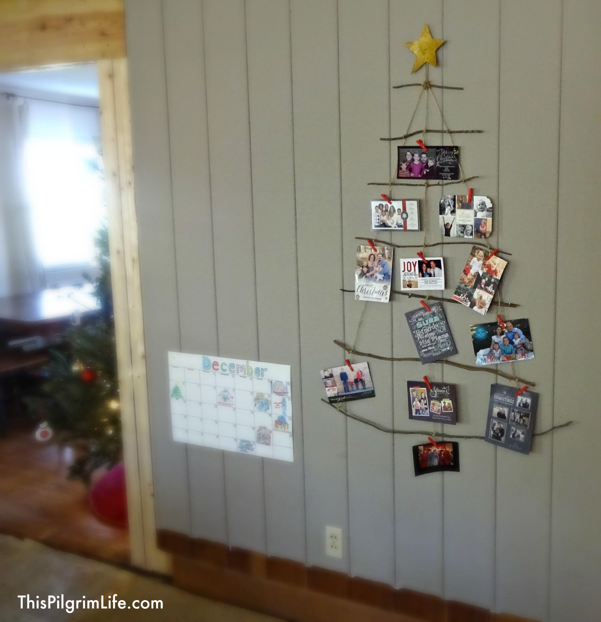 DIY Christmas Card Holders  DIY Rustic Christmas Card Holder & Christmas Tour Part 1