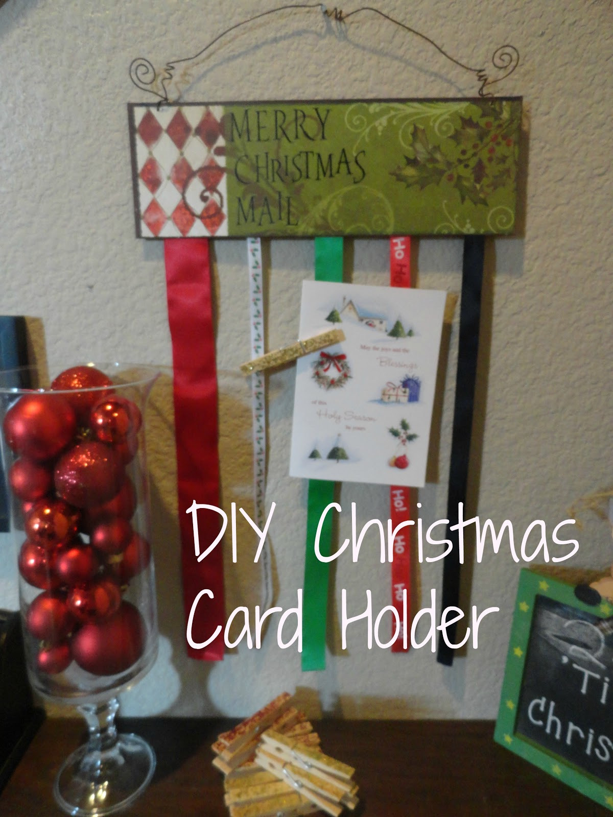 DIY Christmas Card Holders  So I Saw This Tutorial DIY Christmas Card Holder
