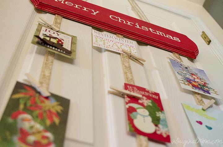 DIY Christmas Card Holders  DIY Hanging Christmas Card Holder unOriginal Mom
