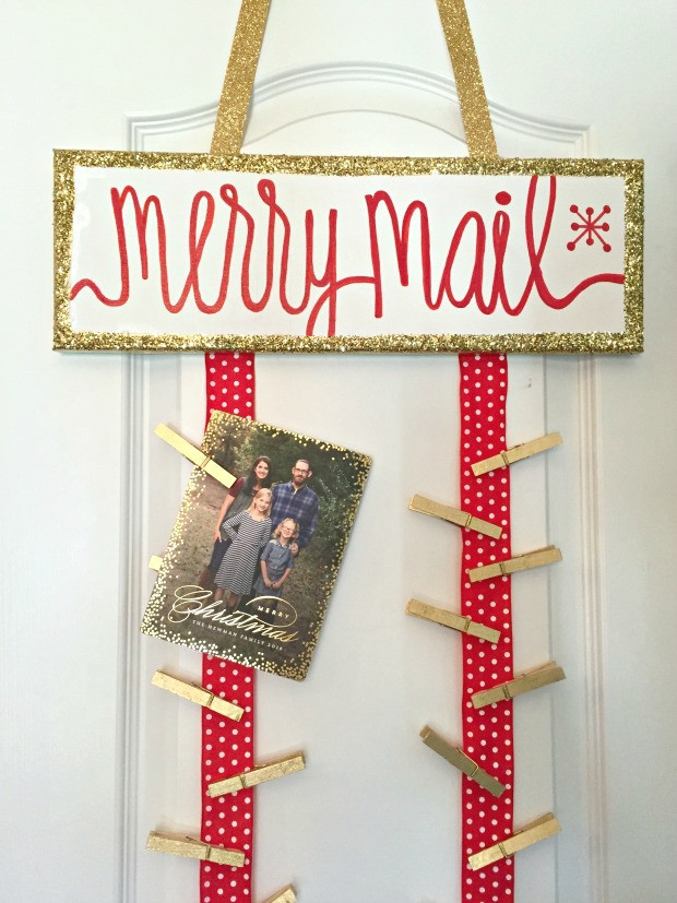 DIY Christmas Card Holders  Lindsay s Sweet World DIY Christmas Card Holder
