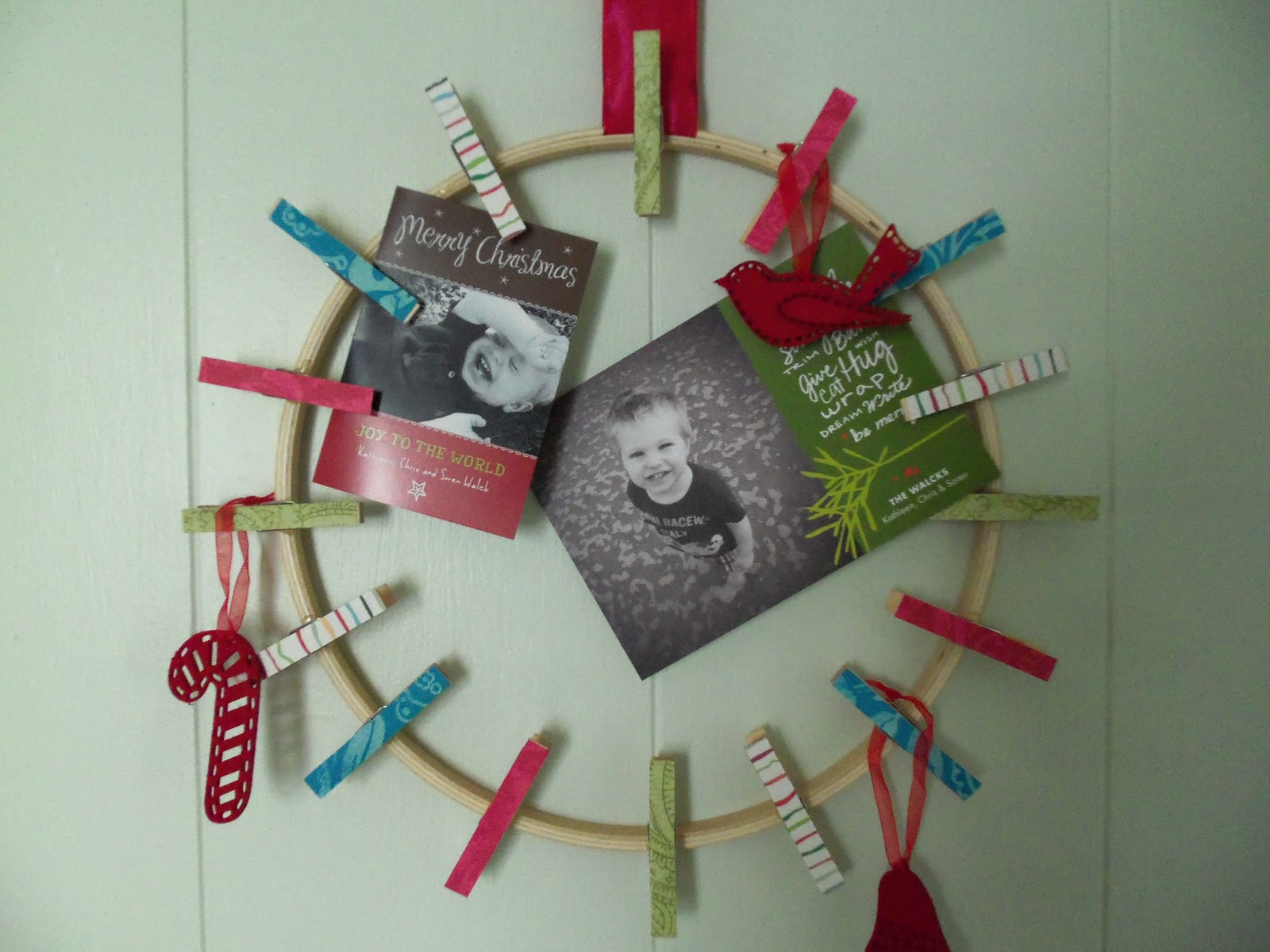 DIY Christmas Card Holders  DIY christmas card holder from katydid & kid