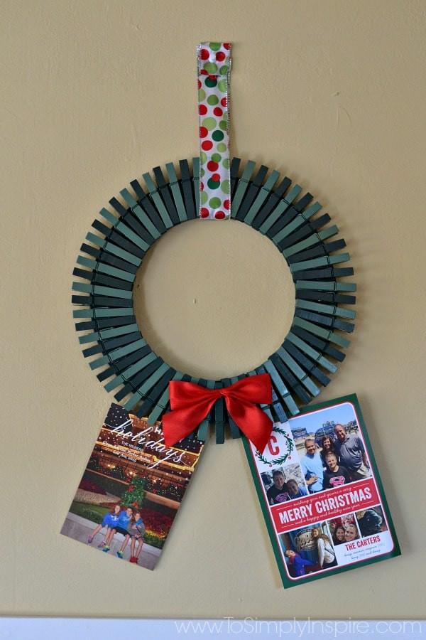 DIY Christmas Card Holders  DIY Christmas Card Holder Wreath