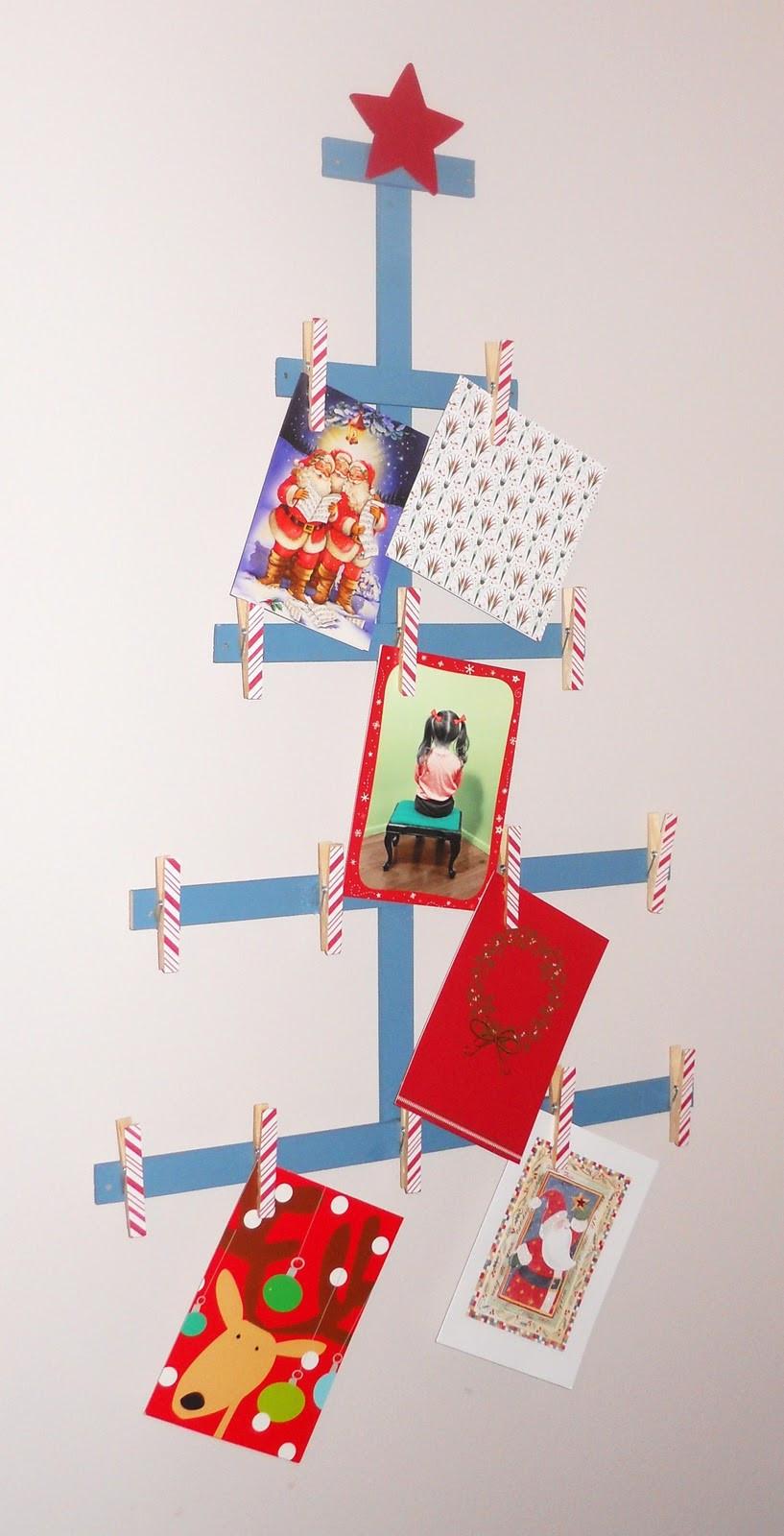 DIY Christmas Card Holders  DIY Christmas Tree Card Holder