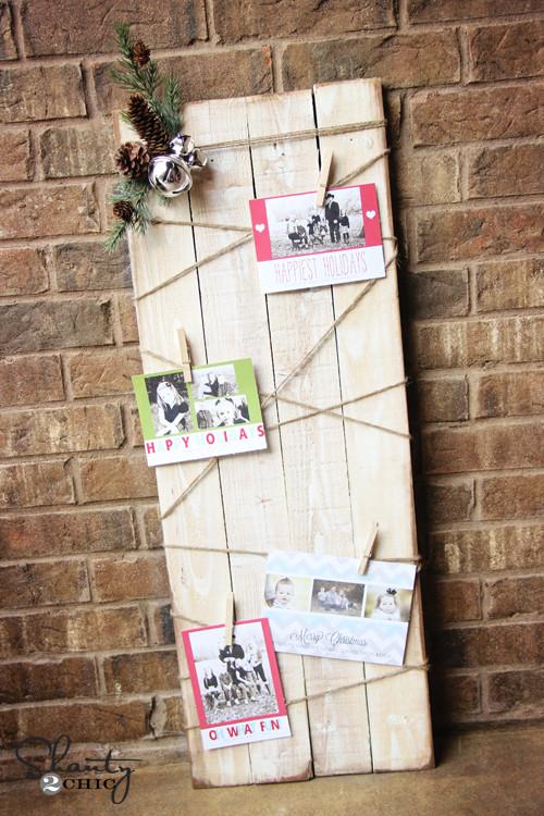 DIY Christmas Card Holders  Christmas Card Holder DIY Shanty 2 Chic