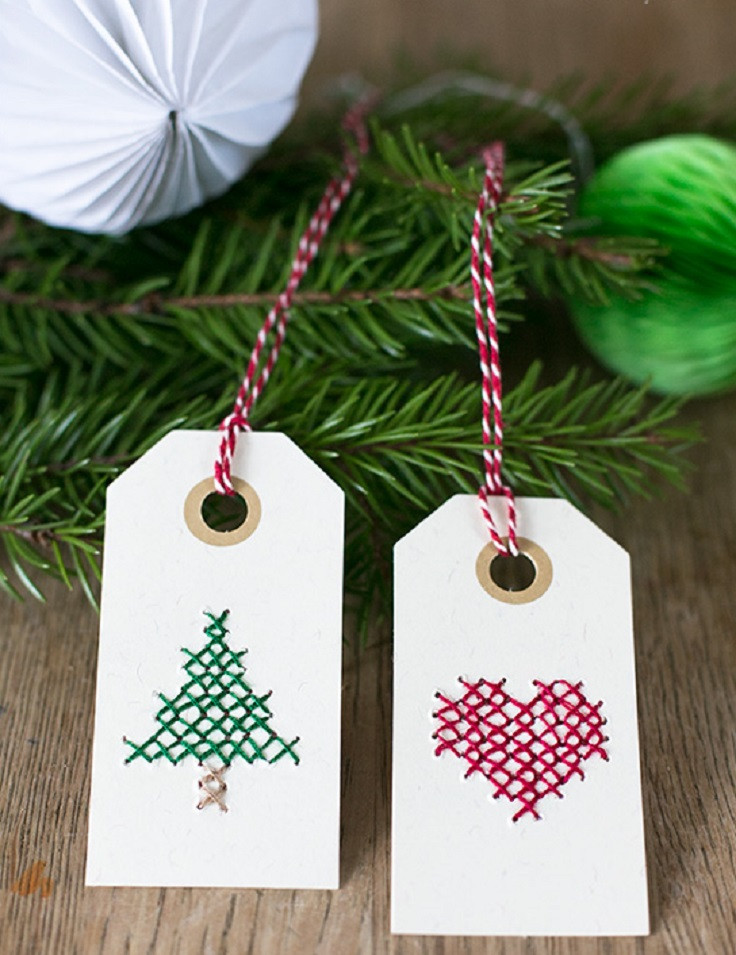 Best ideas about DIY Christmas Gift Tags . Save or Pin Top 10 DIY Christmas Gift Tags Top Inspired Now.