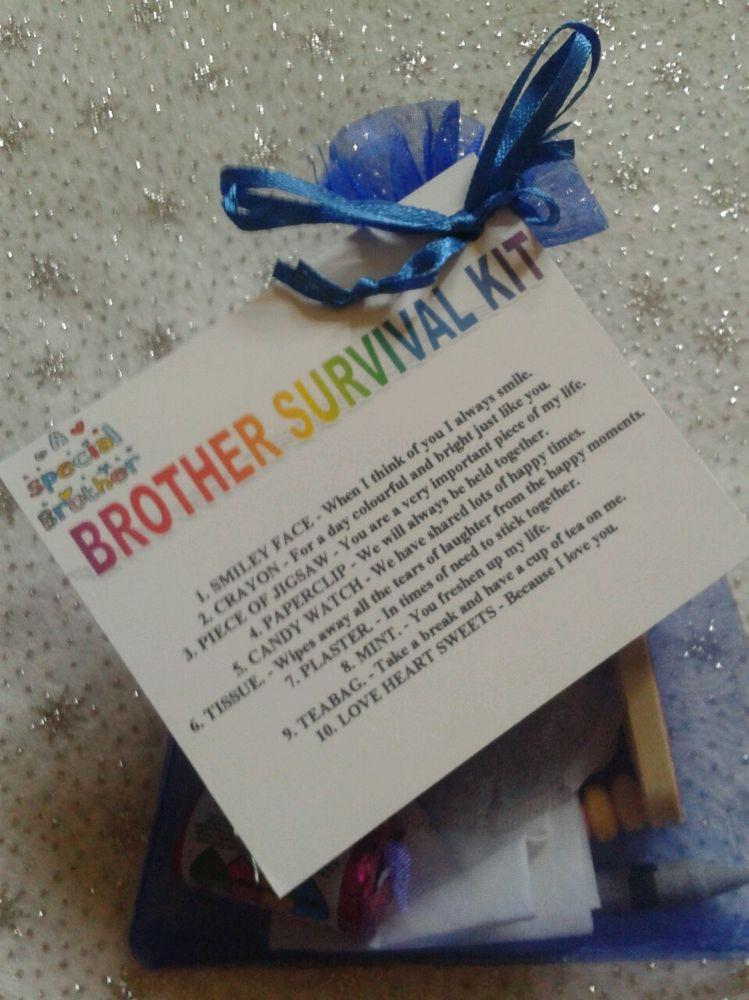Best ideas about DIY Christmas Gifts For Brothers . Save or Pin BROTHER SURVIVAL KIT Novelty Keepsake Christmas Birthday Now.