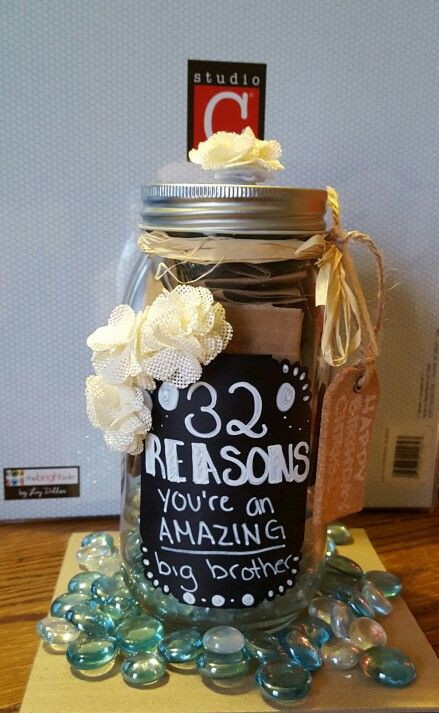 Best ideas about DIY Christmas Gifts For Brothers . Save or Pin Birthdays Brother and Gifts on Pinterest Now.