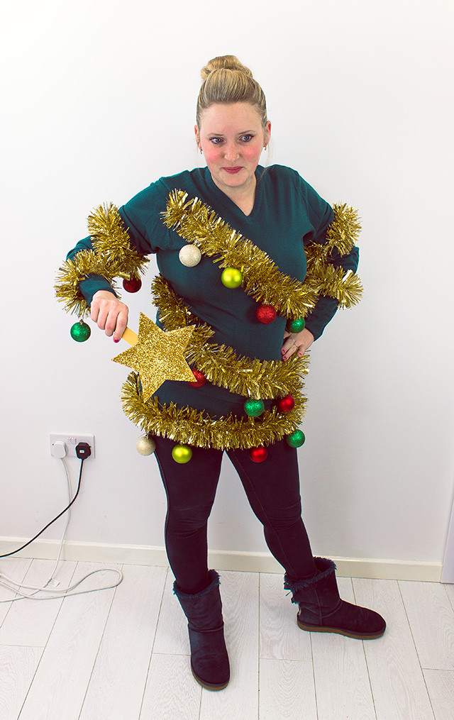 Best ideas about DIY Christmas Jumper . Save or Pin Christmas Tree Jumper Tutorial Now.
